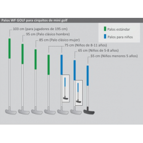Standard Minigolfschläger mit Chrom-Stahlschaft
